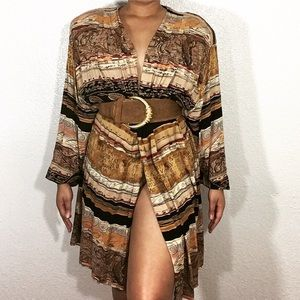 Vintage | Safari Cardigan Dress
